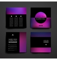 Set of modern design banner template in Mardi Gras vector image