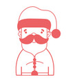 silhouette santa claus to celebrate merry vector image