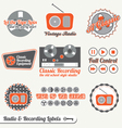 Retro Recording and Radio Labels vector image vector image