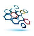 hexagonal abstract icon vector image vector image
