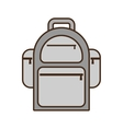 cartoon backpack traveler vacation vector image