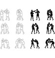 Silhouette Exercising Boxeo b vector image vector image