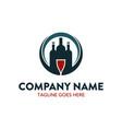 bar beverage logo template vector image