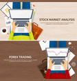 flat background market trade vector image