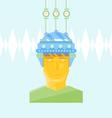 Man Head with Creative Helmet vector image vector image