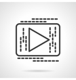Black line button play icon vector image