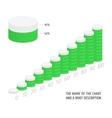 Set of green charts vector image