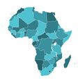 Africa silhouette map vector image