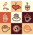 caffee logo icons vector image