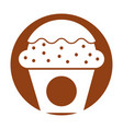 cup cake sweet icon vector image
