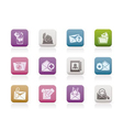 e-mail and message icons vector image