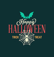 Retro Happy Halloween Badge Sticker Label Design vector image