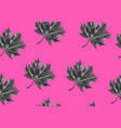 seamless pattern with maple leaves decorative vector image