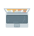 Top view of modern retina laptop keyboard isolated vector image