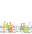 Water color jars border vector image vector image