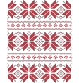 Geometric knitted pattern vector image