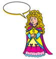 beauty fairy queen or princess vector image