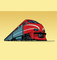 high speed passenger train vector image