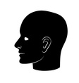 Human heads silhouettes Group of people talking vector image vector image