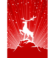 reindeer winter background vector image vector image