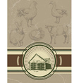 Retro Vintage Farm Background vector image