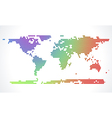 Abstract world map from dots vector image vector image