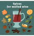Background with hot wine vector image