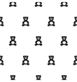 Bear black and white kid pattern vector image