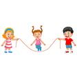 Cartoon jump rope vector image