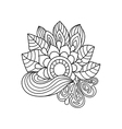Doodle art flowers Zentangle floral pattern vector image