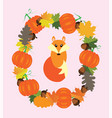 fall fox vector image