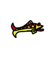 fish icon aztec vector image
