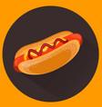 hot-dog flat style vector image