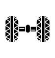 wheel alignment - garage icon vector image