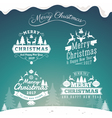 Set of Christmas decoration typography tag label vector image