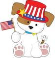 Puppy Patriotic vector image