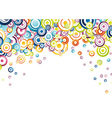 Abstract background full of rainbow circles vector image