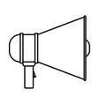 monochrome silhouette of megaphone icon vector image