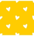 Tile pattern white hearts on yellow background vector image