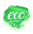 Eco Friendly hand drawn lettering vector image