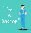 doctor character with health mask vector image