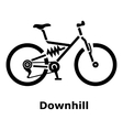 Downhill bicycle icon simple style vector image