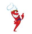 hot pepper cook vector image