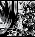 grunge face sketch vector image vector image