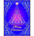 greeting card with ornamental tree vector image