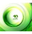 green eco wave vector image vector image