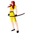 Warrior Girl with Sword vector image vector image