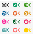 Okay icons vector image vector image