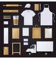 Bakery Corporate Identity Template Design Set vector image