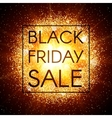 Black Friday sale banner on abstract background vector image